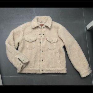 Levi's Women's Cotton Fleece Trucker Jacket size M